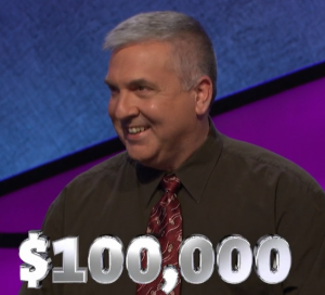 Francois Barcomb, today's Jeopardy! winner (for the May 17, 2019 game.)
