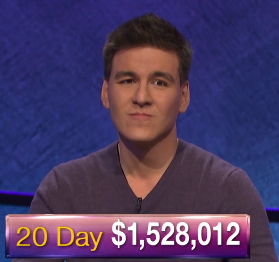 James Holzhauer, today's Jeopardy! winner (for the May 1, 2019 game.)