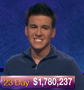 James Holzhauer, today's Jeopardy! winner (for the May 20, 2019 game.)