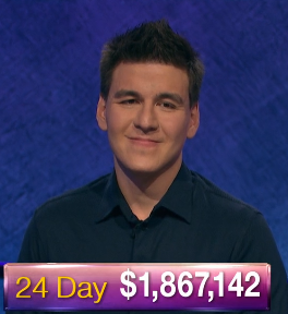 James Holzhauer, today's Jeopardy! winner (for the May 21, 2019 game.)