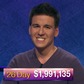 James Holzhauer, today's Jeopardy! winner (for the May 23, 2019 game.)
