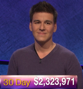 James Holzhauer, today's Jeopardy! winner (for the May 29, 2019 game.)