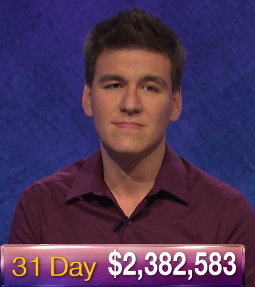 James Holzhauer, today's Jeopardy! winner (for the May 30, 2019 game.)