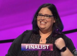 Sara Delvillano, today's Jeopardy! winner (for the May 13, 2019 game.)