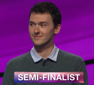 Trevor Crowell, today's Jeopardy! winner (for the May 7, 2019 game.)
