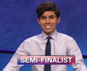 Lucas Miner, today's Jeopardy! winner (for the June 18, 2019 game.)