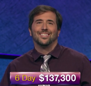 Jason Zuffranieri, today's Jeopardy! winner (for the July 26, 2019 game.)