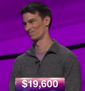 Nathan Kaplan, today's Jeopardy! winner (for the July 18, 2019 game.)
