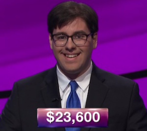 Roey Hadar, today's Jeopardy! winner (for the July 17, 2019 game.)