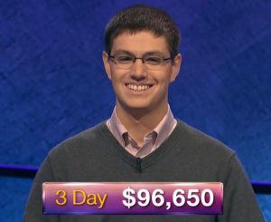 Ryan Bilger, today's Jeopardy! winner (for the July 8, 2019 game.)