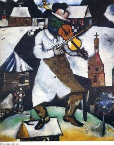 """Marc Chagall's """"The Fiddler"""", as used in Final Jeopardy on September 23, 2019."""
