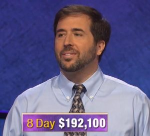 Jason Zuffranieri, today's Jeopardy! winner (for the September 10, 2019 game.)