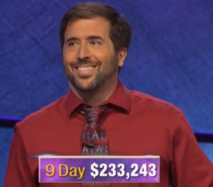 Jason Zuffranieri, today's Jeopardy! winner (for the September 11, 2019 game.)