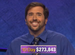 Jason Zuffranieri, today's Jeopardy! winner (for the September 12, 2019 game.)