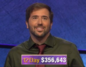 Jason Zuffranieri, today's Jeopardy! winner (for the September 16, 2019 game.)