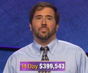 Jason Zuffranieri, today's Jeopardy! winner (for the September 18, 2019 game.)