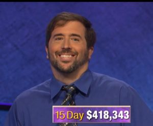 Jason Zuffranieri, today's Jeopardy! winner (for the September 19, 2019 game.)