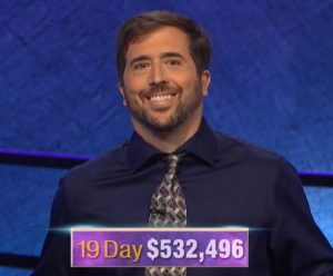 Jason Zuffranieri, today's Jeopardy! winner (for the September 25, 2019 game.)