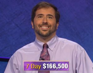 Jason Zuffranieri, today's Jeopardy! winner (for the September 9, 2019 episode.)