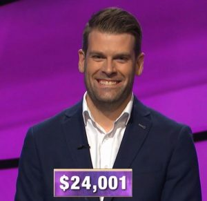 Andrew Thomson, today's Jeopardy! winner (for the October 31, 2019 game.)