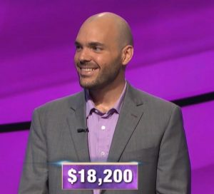 Daryn Firicano, today's Jeopardy! winner (for the October 17, 2019 game.)