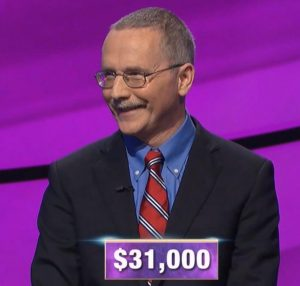 Ed Condon, today's Jeopardy! winner (for the October 15, 2019 game.)