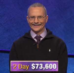 Ed Condon, today's Jeopardy! winner (for the October 16, 2019 game.)