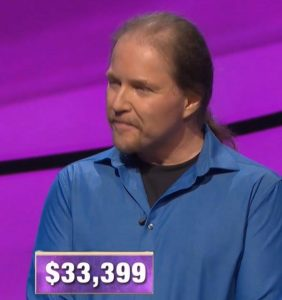 Geoff Duncan, today's Jeopardy! winner (for the October 10, 2019 game.)