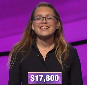 Kara Skinner, today's Jeopardy! winner (for the October 4, 2019 game.)