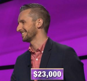 Kevin Boettcher, today's Jeopardy! winner (for the October 1, 2019 game.)
