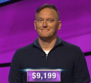 Ryan Bradley, today's Jeopardy! winner (for the October 21, 2019 game.)