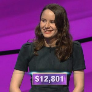 Alex Damisch, today's Jeopardy! winner (for the November 28, 2019 game.)