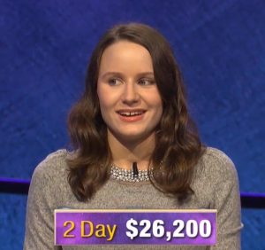Alex Damisch, today's Jeopardy! winner (for the November 29, 2019 game.)