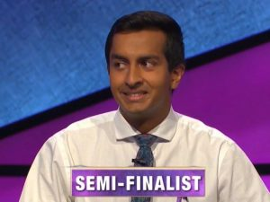 Dhruv Gaur, today's Jeopardy! winner (for the July 7, 2020 game.)