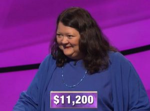 Ellen Keane, today's Jeopardy! winner (for the November 27, 2019 game.)