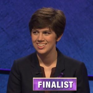 Emma Boettcher, today's Jeopardy! winner (for the July 13, 2020 game.)
