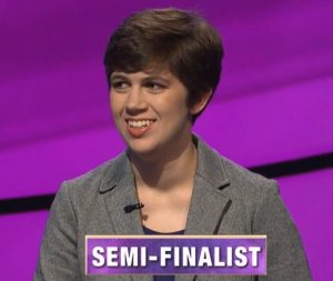 Emma Boettcher, today's Jeopardy! winner (for the November 7, 2019 game.)