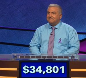 Francois Barcomb, today's Jeopardy! winner (for the July 15, 2020 game.)