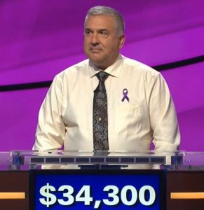 Francois Barcomb, today's Jeopardy! winner (for the November 8, 2019 game.)