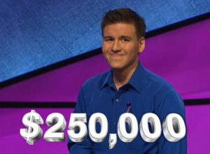 James Holzhauer, today's Jeopardy! winner (for the July 17, 2020 game.)