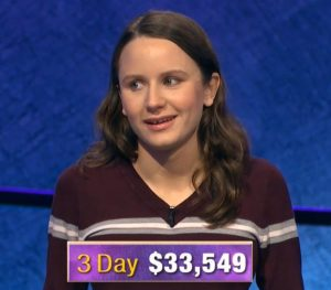 Alex Damisch, today's Jeopardy! winner (for the December 2, 2019 game.)