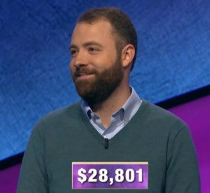 Alex Hookway, today's Jeopardy! winner (for the December 25, 2019 game.)