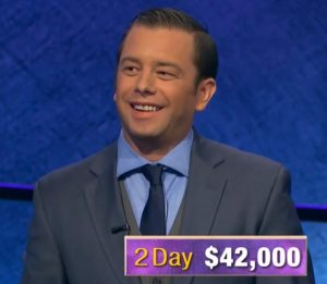 Eric Smith, today's Jeopardy! winner (for the December 20, 2019 game.)