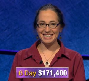 Jennifer Quail, today's Jeopardy! winner (for the December 11, 2019 game.)