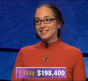 Jennifer Quail, today's Jeopardy! winner (for the December 12, 2019 game.)