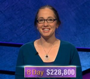 Jennifer Quail, today's Jeopardy! winner (for the December 13, 2019 game.)
