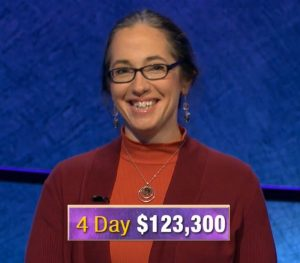 Jennifer Quail, today's Jeopardy! winner (for the December 9, 2019 game.)