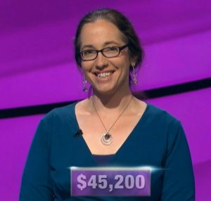 Jennifer Quail, today's Jeopardy! winner (for the December 4, 2019 game.)