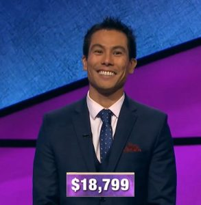 Rodolfo Yuichiro Bedoy, today's Jeopardy! winner (for the December 17, 2019 game.)