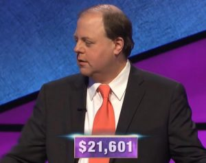 Dennis Coffey, today's Jeopardy! winner (for the January 17, 2020 game.)